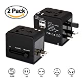 UNIVERSAL TRAVEL ADAPTER (2 PACK) suitable for over 150 countries UK/EU/US/AUS/ Dual USB