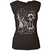 David Bowie – para mujer 1972 World Tour Camiseta