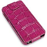 Covert Low Profile Covert PU Leather Flip Case for Apple iPhone SE / 5s / 5 - Purple Croc Skin