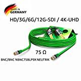 Sommer Cable - Cavo Video Coassiale BNC 75 Ω - HD/3G/6G/12G-SDI / 4K-UHD SC-Vector 0.8/3.7 - BNC/BNC NBNC75BLP9X NEUTRIK, Verde (40m) - Made in Germany by Sommer Cable