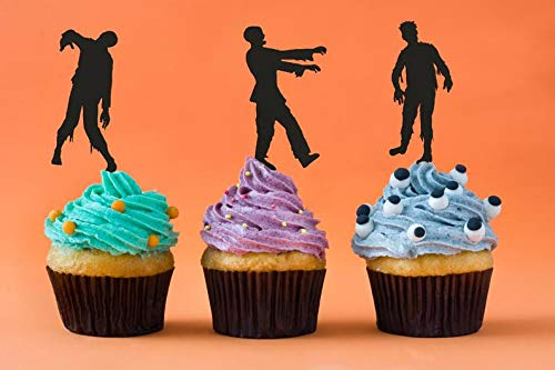 Halloween Cupcake Topper, Zombie Motto Party, Zombie Cupcake Topper, The Walking Dead Party, Zombie Apokalypse, Halloween Dekoration, Walkers (Apokalypse Sex)