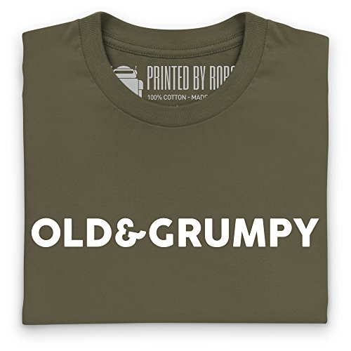 Old And Grumpy T-Shirt, Herren Olivgrn