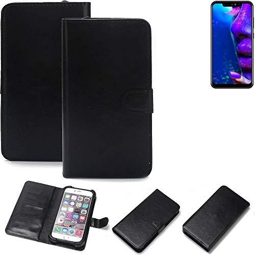K-S-Trade® Wallet Case Handyhülle Für Allview Soul X5 Pro Schutz Hülle Smartphone Flip Cover Flipstyle Tasche Schutzhülle Flipcover Slim Bumper Schwarz, 1x