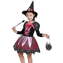 Amazon.it  costume da strega bambina e35c64e7413b