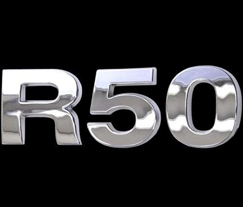 3D Chrom Emblem Aufkleber Logo R50 Tuning Cooper Motor Renn Sport Mini L092