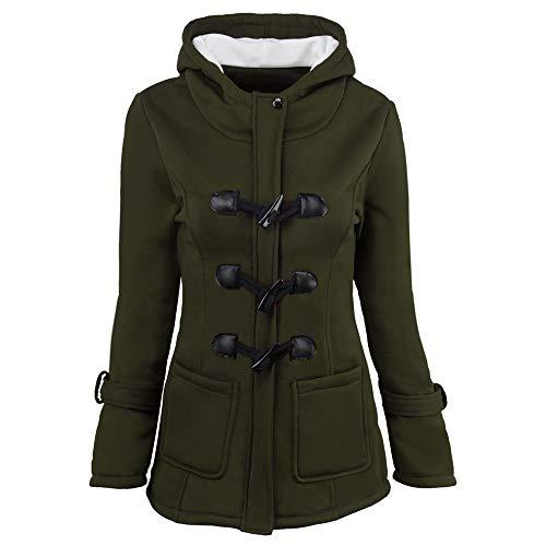 Adamoka Damen Warme Hoodie Windjacke Mäntel Outdoor Trench Wool Langarm Jacke Outwear Kleidung Jacken Oberbekleidung Mäntel Overalls