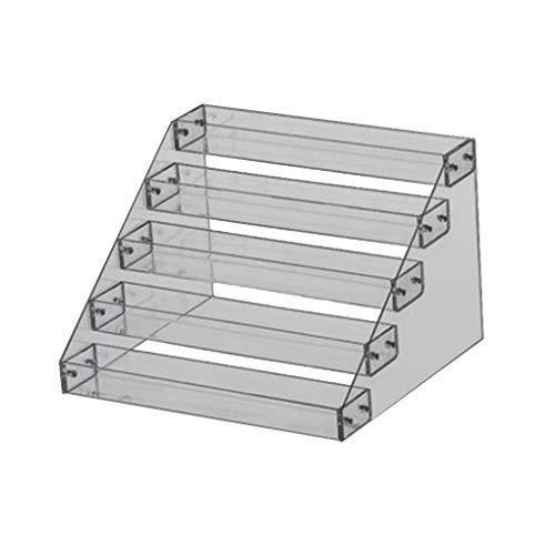 Level Nagellack Rack-Anzeigen-Halter-Nagel-Kunst-Werkzeuge Lagerung Regal Acryl Desktop-Ständer Lippenstift Organizer,transparent,31 * 23.5 * 20cm -