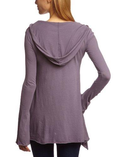 Bobi Damen Langarmshirt 525-07033, V-Ausschnitt Grau (Frost)