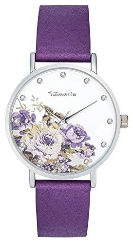 Tamaris Alva Damenuhr Armbanduhr Flower 2 -