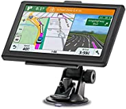 Navigationsgerät, MixMart GPS Navi Navigation 2019 7 Zoll Touchscreen Lebenslang Kostenloses Kartenupdate 128M/32GB 48 Karte