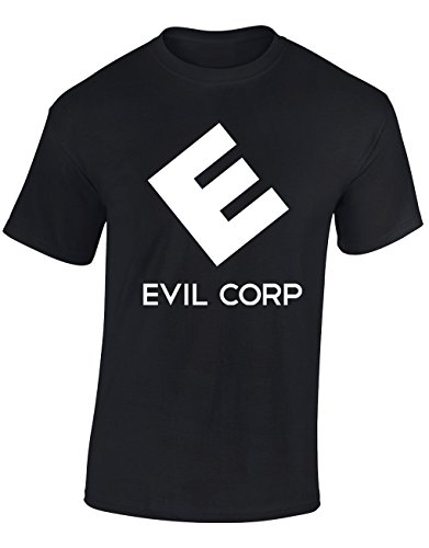 Designs by The Crown 'Evil Corp' Symbol Mr Robot Fan Gift for Men & Teenagers T-Shirts Tops