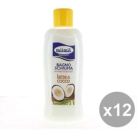 Set 12 MIL MIL Bagno 1L Latte Di Cocco Bagnoschiuma e saponi per il corpo