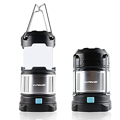 Expower IPX5 wasserdicht tragbare LED Camping Laterne Helle Campinglampe Gartenlaterne Led USB Lampe Taschenlamp eingebaute wiederaufladbare 4400mAh Power Bank,4 Licht Modi für Nachtfischen,Jagen von Expower bei Outdoor Shop