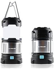 Expower IPX5 wasserdicht tragbare LED Camping Laterne Helle Campinglampe Gartenlaterne Led USB Lampe Taschenlamp eingebaute wiederaufladbare 4400mAh Power Bank,4 Licht Modi für Nachtfischen,Jagen
