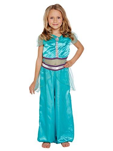 rinzessin Kostüm - Blau, 7-9 years (Arabische Prinzessin Kostüm Kinder)