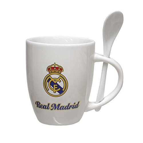 Taza de porcelana con cuchara de Real Madrid (2/36)
