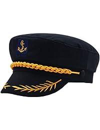 Cerrado Gorras Militares Hombre Mujer Unisexo Bordado Admiral Marinero Capitán Sombreros