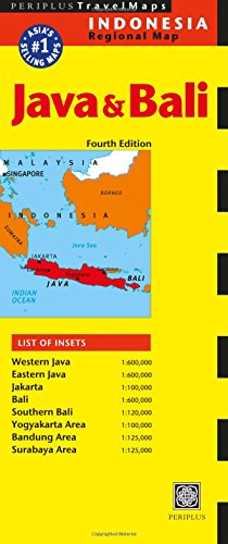 Java and Bali Travel Map (Periplus Travel Maps)