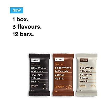 RXBAR, Protein Bar, Chocolate Variety Pack, Gluten Free, Breakfast Bar, 12-Pack by RxBar