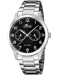 Lotus 15954/d - Reloj de pulsera hombre, Acero inoxidable, color Plateado