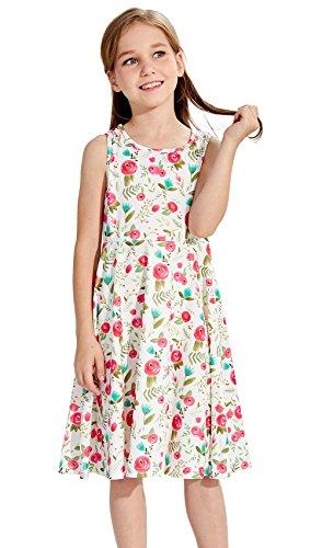 lume gedruckt ärmellos Prinzessin Party Dress Casual Kleidung Outfits für 6-8 Jahre (Mädchen Xmas Outfit)
