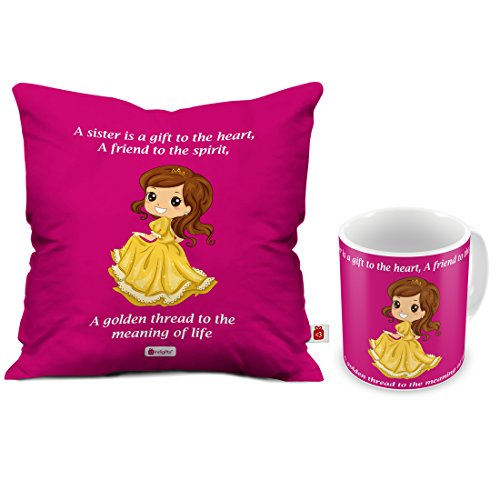 Indigifts Rakhi Gift For Sister My Golden Thread Of Life Quote Coffee Mug 330 Ml