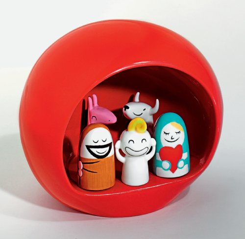 Alessi Presepe Nativity Scene Red
