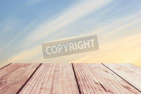 "Alu-Dibond-Bild 50 x 30 cm: ""Sky gradient from blue to orange sunset"", Bild auf Alu-Dibond"