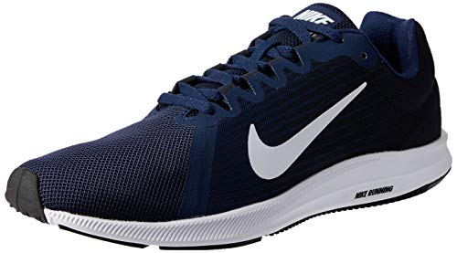Nike Herren Downshifter 8 Laufschuhe, Blau (Midnight Navy/white/dark Obsid 400) , 44 EU
