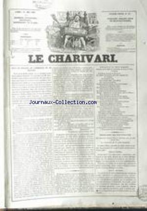 CHARIVARI (LE) [No 121] du 01/05/1837 - JEUX DE BO...