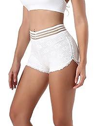 Women 's Lace Panty Leggings Pantalones Corto Tramo Corto De Seguridad