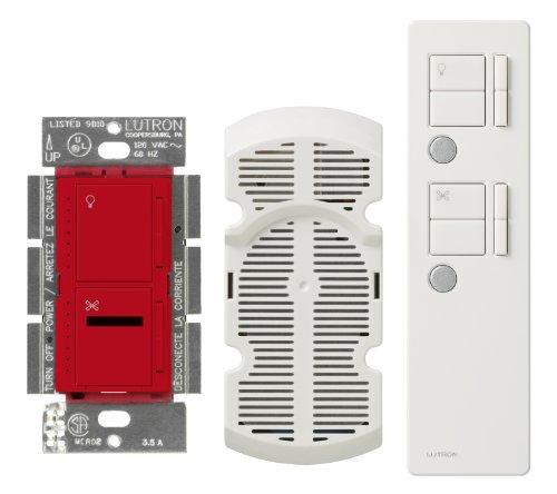 Lutron Maestro IR 300-watt Digital Dimmer mit mehreren 1-amp leise Lüfter mit Fernbedienung und Himmelhalter Modul, MIR-LFQMT-HT 300 W, 120 V