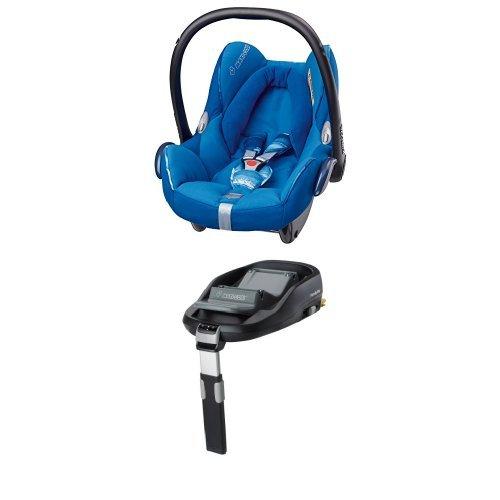 Maxi-Cosi Cabriofix, Babyschale Gruppe 0+ (0-13 kg), watercolour blue, mit Isofix-Station