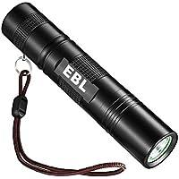 EBL 004 Linterna LED de Mano Resistente al Agua, 350 Lumen, Irradiación Distancia: 300-500m con 5 Modos, Perfecta para Ciclismo, Camping, Montañismo - Negro
