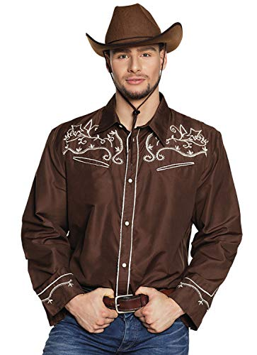 Kostüm Country Themen Western - Boland Shirt Western braun