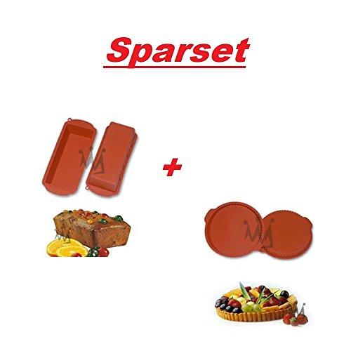 Sparset Silikomart Silikonbackform PLUM CAKE & FLAN PAN L 24cm, Ø 26cm Flan Cake Pan