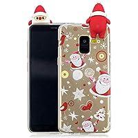 Everainy Samsung Galaxy A8 2018 Silikon Hülle 3D Weihnachts dünn Durchsichtig Hüllen Handyhülle Gummi Samsung... preisvergleich bei billige-tabletten.eu