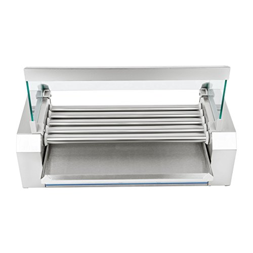 41xoD1lTrJL. SS500  - Royal Catering - RCHG-5E - Hot Dog Grill/Sausage Grill - 5 Heating rods - Protection Cover - 230 V - 1000 W