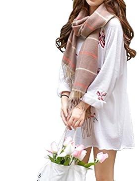zolimx Bufanda de las mujeres, bufandas chal largo suave seda impresa gasa