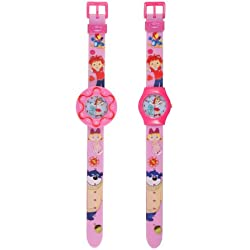 Everything's Rosie Girl's Quartz Watch with Multicolour Dial Analogue Display and Pink Plastic or Pu Strap 26109