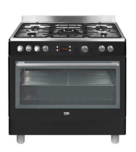 Beko GM15310DB - Cocina (Cocina independiente, Negro, Giratorio, Acero inoxidable, Parte superior...