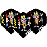Wes Harms Sparky Extra Thick Dart Flights - 4 Sets Per Pack (12 Dart Flights In Total) & Red Dragon Checkout Card