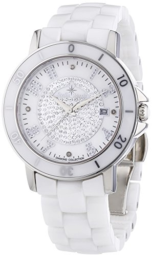 Stella Maris Women's Quartz Watch with White Dial Analogue Display and White Ceramic Bracelet STM13G414