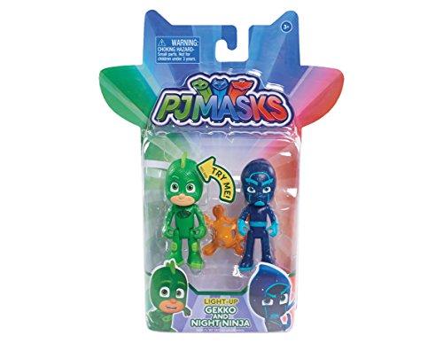 PJ Masks – Pyjamahelden – Gekko & Night Ninja – 2 Spielfiguren 7,5 cm