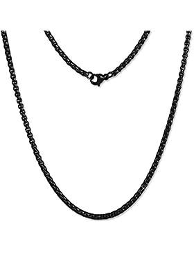 Amello Coinskette Damen Edelstahl-Kette 80cm geschwärzt Edelstahlschmuck ESC102S