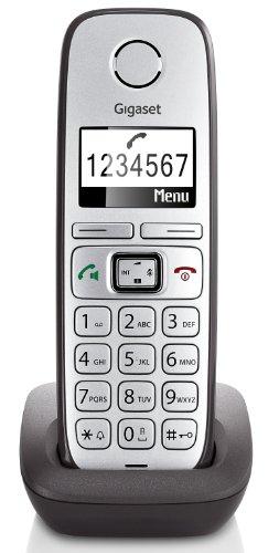 Gigaset E310H Telefon - Schnurlostelefon / Mobilteil - Grafik Display - Grosse Tasten Telefon - Anrufbeantworter -  Freisprechfunktion - Analog Telefon, hellgrau - anthrazit