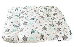 Mustersterne rosa Clevere Kids Wickelauflage Sterne und Tiere 75x70 cm OEKO-TEX Standard 100