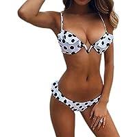 LILICAT!!! Sling Deep V Placa de Acero con Estampado Traje de baño Bikini Traje de baño de Dos Piezas Bikini con Vendaje de Mujeres baño con Estampado brasileño Ropa de Playa Traje de baño