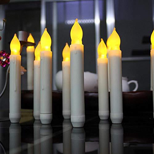 6 Oder 12 Stücke Der Geführten Flammenlosen Kerzenhalter-Batterie Führten Kerze-Helle Lange Kerze Geführte Batteriebetriebene Elektrische Kerze Des Fensterheber -12
