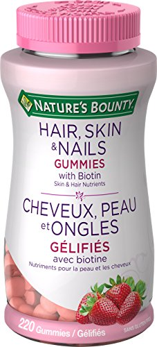 Natur Aus Biotin (Nature's Bounty Optimal Solutions Hair, Skin and Nails Gummies 220 Count With Biotin Strawberry Flavored)